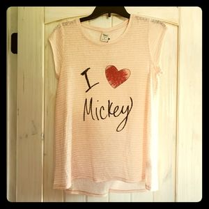 B1G1: LC Lauren Conrad Disney Mickey Minnie Shirt